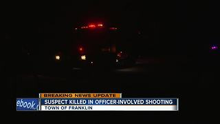 Officer-involved shooting in Kewaunee County - Video