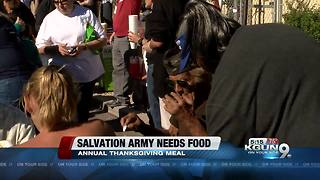 Salvation Army Turkey Drive, Thanksgiving Meal and Bell Ringing Program - Video