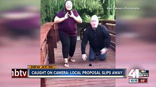 KC couple loses engagement ring during proposal - Video