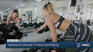 online fitness surging