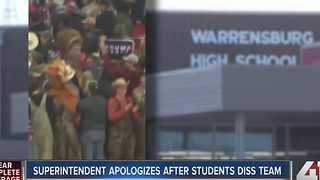 Superintendent apologizes after students diss team - Video
