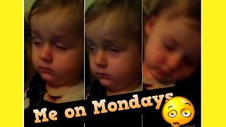 Kid fights to stay awake - Video