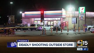 One person killed in shooting outside of Phoenix convenience store