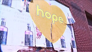 Finding hope all around us: Artist creates hope murals across Colorado