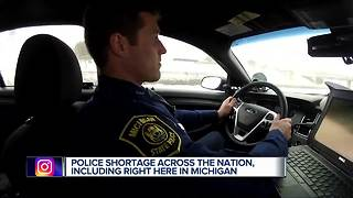 Michigan facing police shortage across the state - Video