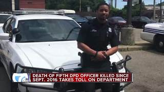 Detroit police department in mourning over officer death - Video
