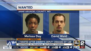 Woman, driver wanted after dragging deputy with car