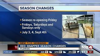Feds: 39-day weekends-only recreational red snapper season - Video