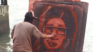 Artist Shocks Woman With Surprise Portrait Painting From Memory  - Video