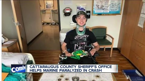 WNY sheriff's office helping a Marine partially paralyzed in car crash