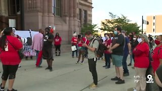 Parents protest police brutality outside Cincinnati City Hall