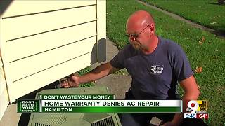 Home warranty denies AC repair - Video