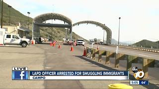 LAPD officer arrested for smuggling immigrants