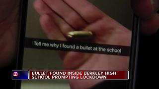 9mm bullet found at Berkley High School, lockdown lifted after sweep - Video