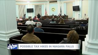 Residents speak out about tax hikes in Niagara Falls - Video