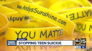 Arizona mother sharing story of son's suicide to help others - Video
