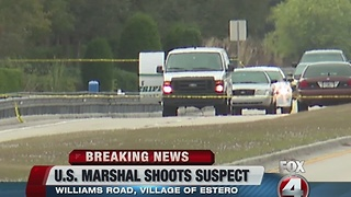 Estero US Marshal involved shooting 6:30 - Video