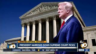 President narrows down Supreme Court picks
