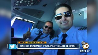 Friends remember Vista pilot killed in plane crash
