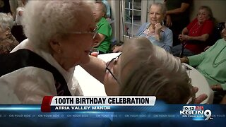 Celebrating 100 years with a local woman