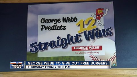 George Webb to give out FREE burgers Thursday