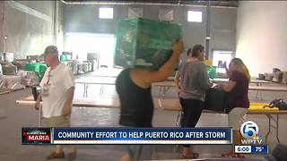Community effort to help Puerto Rico after storm - Video