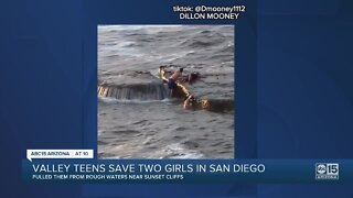 Valley teens save two girls from rough water in San Diego