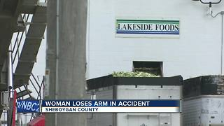 Woman loses arm in industrial accident at Lakeside Foods - Video