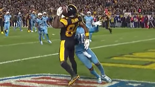 Antonio Brown Makes INSANE One Handed Helmet Catch vs Titans - Video