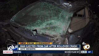 Man ejected after rollover crash off SR-15
