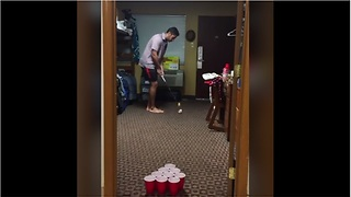 Compilation of ping pong trick shots with a golf club - Video