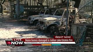11 homes destroyed by brush fire in Polk - Video