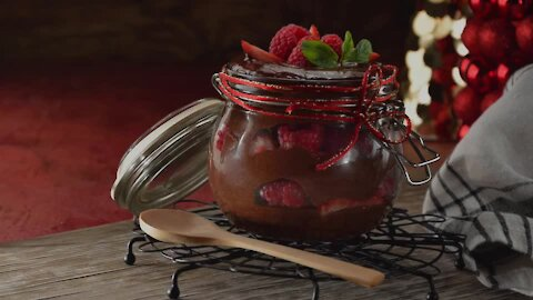 Chocolate Mousse with Red Fruits