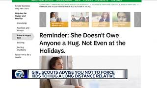 Girl Scouts asks parents to not force daughters to hug people this holiday - Video