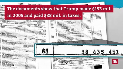 Trump's leaked 2005 tax return | Rare News