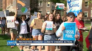 Hundreds of people participated in the Global Climate Strike in Milwaukee Friday
