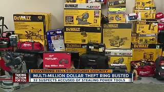 34 arrested in massive theft & re-sale ring at Hillsborough County Home Depot stores - Video