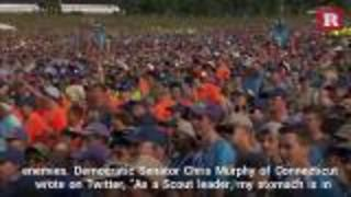 Trump's speech to Boy Scouts sparks outrage | Rare News - Video