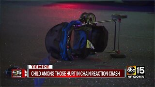 Police: Two children hurt after two-car crash in Tempe