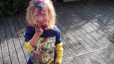 Little Girls Is Great At Coloring Outside the Lines, LOL!!