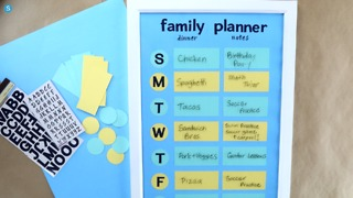 Family activity & meal planner DIY craft