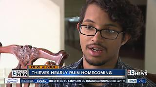 Neighbors rally around high school student in Las Vegas after thieves try to ruin his homecoming - Video