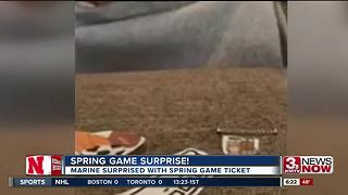 Marine Surprised With Spring Game Tickets - Video