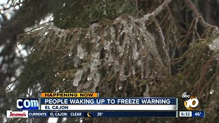 San Diego County gripped by freezing temperatures