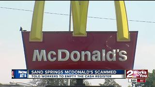 Sand Springs McDonald's scammed - Video