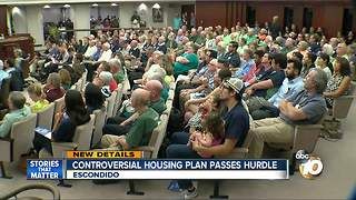 Controversial housing plan passes hurdle - Video