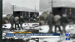 Escaped inmate from Fremont County back in custody - Video