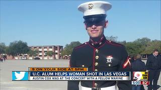University of Cincinnati grad hailed as hero in Las Vegas massacre - Video