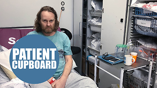 A cancer patient recovering from a life-saving operation was forced to sleep in a hospital CUPBOARD - Video
