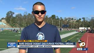 Rare disease doesn't discourage University City football dream - Video